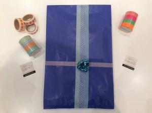 Papier cadeaux masking tape