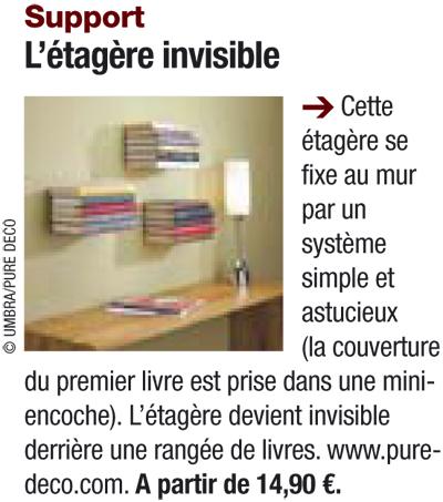 etagere invisible umbra le blog d co de pure d co. Black Bedroom Furniture Sets. Home Design Ideas