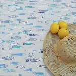 Nappe-enduite-fleur-de-soleil-poissons-bleu