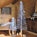 Sapin artificiel en bois argenté
