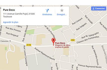 Plan Toulouse boutique Pure Deco